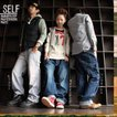 Self[セルフ] デニム地 スケールポッケ ハンマーループ付き ペインターワークパンツ(3色)