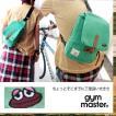 gymmaster[ジムマスター] 杢スウェット素材 マグネットフラップ ワンポイント カエル刺繍 ボディーバッグ(5色)