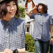 (セイル) SAIL ポロシャツ風ギンガム半袖シャツ