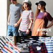 カットソー  Tee Tシャツ 半袖 クルーネック マリンボーダー 肉厚 ストレッチ (アヴィレックス) AVIREX