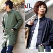 (セイル) SAIL日本製 ハーフ丈コート 無地 ステンカラーコート ワンポイント リネン コットン オックス