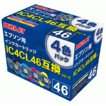 IC4CL46 (4色パック) ●5パック入●特価品/染料インク ≪Power Jet 互換インク:PEE-46DY-4B≫ エプソンインクジェットカートリッジ EPSON