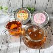 水森亜土 ティータイム 耐熱ガラスギフトセット  和紅茶 ミルクティー&ストレート付き