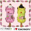 春 夏 犬用 アイスクリーム キャミソール 犬 犬服 ドッグウェア 5サイズ XXS/XS/S/M/L 2カラー