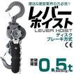 レバーホイスト 500kg (0.5ton) 手動式 荷締め (最大2000円クーポン配布中)