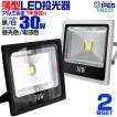 LED投光器 30W 300W相当 防水 LEDライト 作業灯 防犯灯 ワークライト 看板照明 昼光色/電球色/緑 薄型 一年保証 2個セット (クーポン配布中)