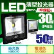LED投光器 30W 300W相当 防水 LEDライト 作業灯 防犯灯 ワークライト 看板照明 昼光色/電球色/緑 薄型 一年保証 50個セット (クーポン配布中)