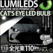 3-B-5)・T10LED Cat's Eye Hyper 3528 SMDウェッジシングル(キャッツアイ) ホワイト7200K 入数2個