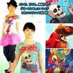 バンビ、ドクロ、風船少女…3デザインシチュエーションドリームTシャツシリーズ代四段おしゃれレトロデザインカットソー