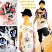 激安Tシャツフェアリーガール&ブルーアイキャットロング丈カットソーゆるかわロマンティック妖精少女かわいい子猫ネコ好きさん