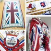 ストールスカーフ大判英国旗ユニオンジャックフリンジマフラーバンダナブリティッシュイギリス国旗コットン100%