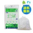 ごみ袋 70L0.02mm厚 半透明 10枚x60冊x10箱 1冊あたり89円 KN-73-10