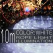 イルミネーションライト LED チューブ ロープ ライト クリスマスツリー ハロウィン お祭り 電飾 10m 300灯 白 ホワイト 延長用 IRMRW010