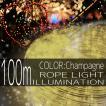 イルミネーションライト LED チューブ ロープ ライト クリスマスツリー ハロウィン お祭り 電飾 100M 3000灯 金 ゴールド 延長用 IRMRWA100