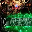 イルミネーションライト LED ストレート ライト クリスマスツリー サンタ お祭り 電飾 10M 100灯 緑 グリーン 延長用 IRMSG100