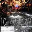 イルミネーションライト LED ストレート ライト クリスマスツリー サンタ お祭り 電飾 10m 100灯 白 ホワイト コントローラー付 IRMSW100IRMSNC10