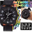 B.F.Fウォッチ(メンズ,時計,7カラー,ライティングウォッチ,フラッシュ,ビッグフェイス,腕時計)