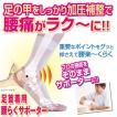 足首着用「腰らくサポーター」(腰痛対策 腰痛予防 さくらリバース 足首 施術 骨盤補整 薄型 0.5mm 外反母趾 足指が開く)