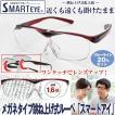 メガネタイプ跳ね上げ式ルーペ「スマートアイ」(メガネ式拡大鏡 拡大ルーペ 拡大率1.6倍 眼鏡 ワンタッチ レンズアップ はねあげ)