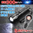 充電式LEDズームライト1000(強力ハンディライト/CREE T6 LED/ズーム機能付/1000lm/防水/自動車用充電/300m照射/1000ルーメン)