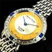 送料無料!ペレバレンチノ25周年限定ゴールドディスクウォッチ「メンズ」(腕時計,PER VALENTINO,スワロフスキー,天然ダイアモンド5石)