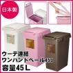 ごみ箱 ウーデ連結ワンハンドペール45J ゴミ箱 分別 ダストBOX  RSD-310