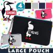 ポーチ CHUMS チャムス フラット 正規品 サガラ刺繍 メンズ レディース 男女兼用 ブランド 旅行 レジャー スポーツ セール