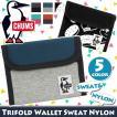 財布 二つ折り チャムス CHUMS ウォレット スウェット マジックテープ ベルクロ メンズ レディース 男女兼用 ブランド Trifold Wallet Sweat Nylon 小銭入れ