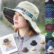 フェス 帽子 レディース 大きいサイズ アウトドア メンズ  サファリハット  UV ソリッド キャンプ ファッション おしゃれ 黒