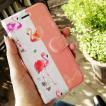 手帳型 アイフォン iPhoneケース フラミンゴ
