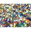 ガラスビーズ 約200個  約35色 ミックス アクセサリーパーツ アクセサリー作成 ファイアポリッシュ ファイヤーポリッシュ カットビーズ ガラスパーツ
