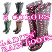 【セール品】【在庫一掃】5タイプ選択可能 レインブーツ Ladies' Rain Boots ヒール5.5cm【あすつく】