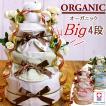 [4/23(金)到着可] おむつケーキ 出産祝い 名入れ刺繍 おしゃれ オーガニック 男の子 女の子 男女兼用