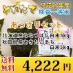 お米 10kgあっさりセット 北海道産ななつぼし 5kg + 秋田県産あきたこまち 5kg 検査一等米 10kg (5kg+5kg) 29年産