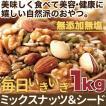 返品・キャンセル不可 美容健康応援 無添加無塩 毎日いきいきミックスナッツ シード1kg 常温商品 代引不可