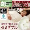 日本製 羽毛布団 セミダブル 掛けふとん CILグリーンラベル ホワイトダックダウン 羽毛のためのアレルGプラス 3年保証