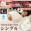 日本製 羽毛布団 シングル 掛けふとん CILレッドラベル ユーラシアダックダウン 羽毛のためのアレルGプラス 3年保証