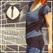 美シルエット モード デザイン カットソー アシンメトリー シンプル 半袖 Tシャツ エスニック サイケ レディースファッション