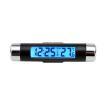 時計 温度計 バックライト LED 電池式 デジタル 車載 小型 スティックサーモクロック 内装