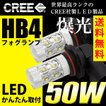 LEDフォグランプ HB4 CREE 50W  白/ホワイト LEDバルブ 送料無料