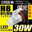 LEDフォグランプ H8/H11/H16 LED CREE 30W  白/ホワイト LED フォグランプ 送料無料