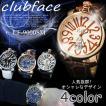 腕時計 メンズ クラブフェイス メンズ腕時計 革 CF-9000SM プレーンタイプ レビューを書いて送料無料