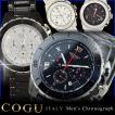 メンズ 腕時計 コグ COGU クロノグラフ カレンダー付き CRM2 ベルト調整工具付き 送料無料