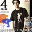 b-one-soul Tシャツ DUCK DUDE メンズ Tシャツ バスケットマンのアヒルプリントTシャツ。TSS-009
