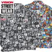 VISION シャツ メンズ 開襟シャツ 写真柄 総柄 ヴィジョンストリートウェア オープンカラーシャツ 長袖 フォトプリント VISION-173