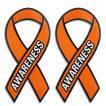 オレンジリボン マグネット2枚セット 人種差別 暴力 ネグレクト UVカット 耐水 防水