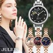 腕時計 レディース 防水 ブランド 時計 人気 ブレスレット 20代 30代 40代 50代 ムーンフェイズ 月 太陽 星空 JULIUS プレゼント 母の日 ギフト