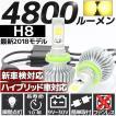高輝度 4800lm COB LED ヘッドライト H8 3000K (ケルビン) 2灯分 すれ違い光軸対応 ファンレス 省エネ 長寿命 フォグ ライト ランプ バルブ