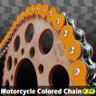 KDX200SR CYCバイクチェーン オレンジ 520-120L