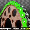 RZV500 CYCバイクチェーン 530-120L カラーチェーン 蛍光グリーン【クーポン配布中】